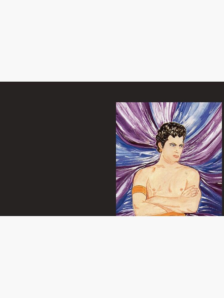 Tony in purple satin swirl by DecodentArt