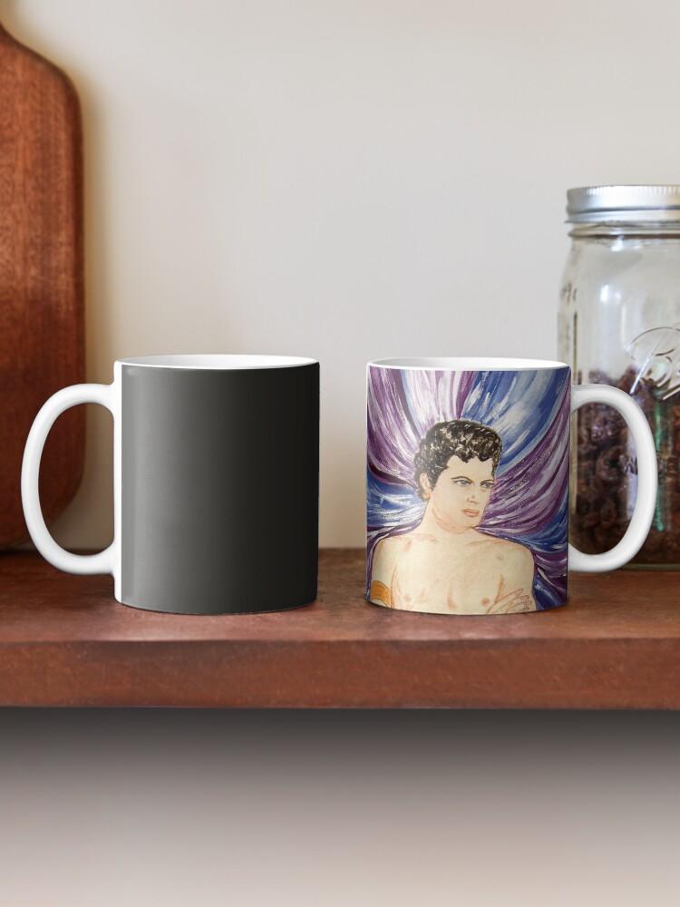 Alternate view of Tony in purple satin swirl Mug