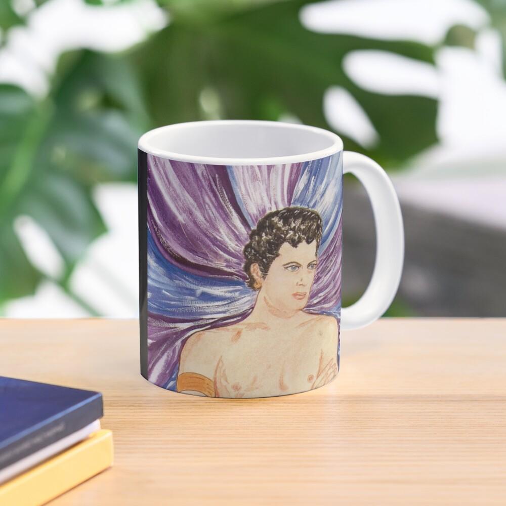 Tony in purple satin swirl Mug