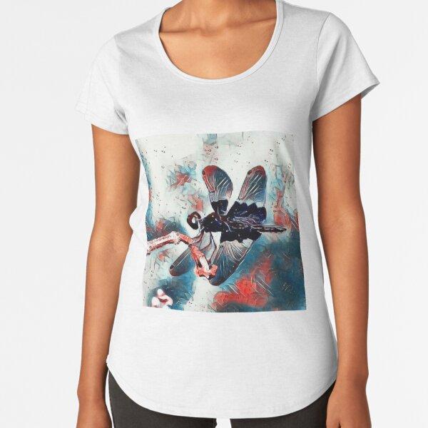 Sapphire Flutterer Dragonfly  Premium Scoop T-Shirt
