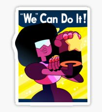 """We"" Can Do it! // Garnet Steven Universe Poster Sticker"