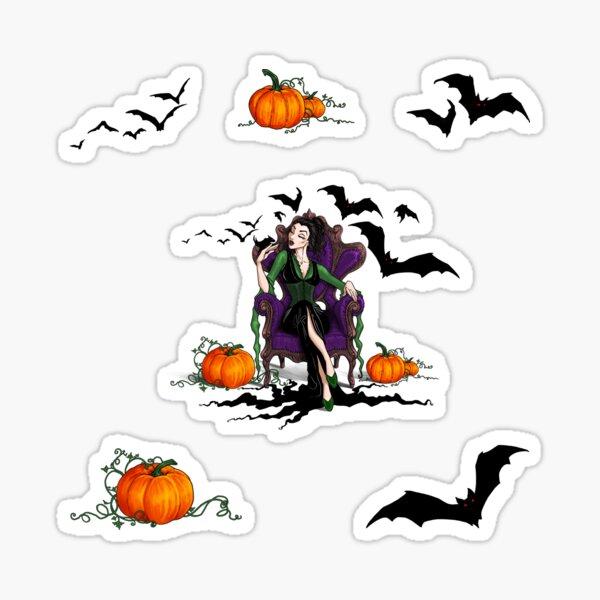 Crazy Bat Witch, Brunette in Green Sticker
