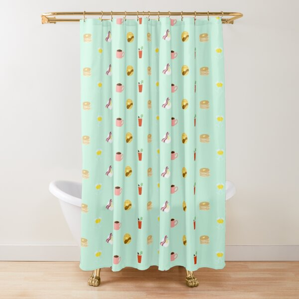 Brunch and Crunch Shower Curtain