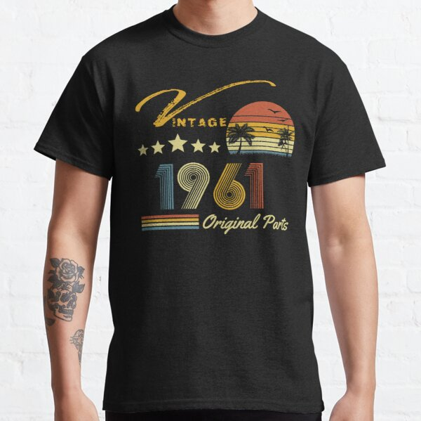 Vintage 1961-60 cumpleaños Camiseta clásica