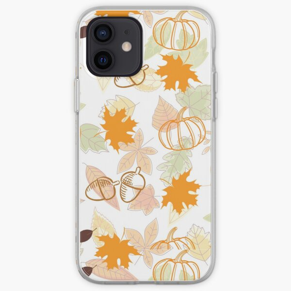 Autumn Leaves and Pumpkins  iPhone Soft Case