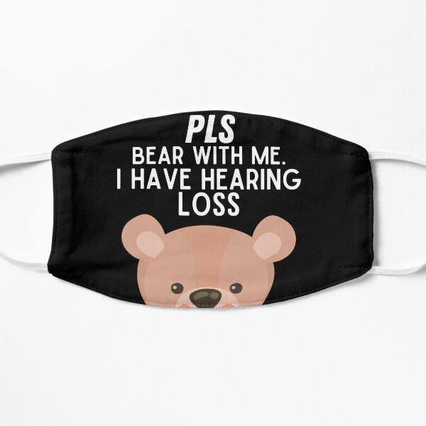 Máscara de oso lindo para personas con discapacidad auditiva Mascarilla plana