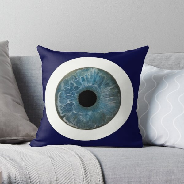 Blue Eye Bowie Throw Pillow