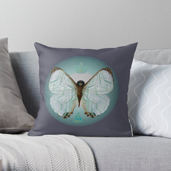 Pearl Morpho Throw Pillow
