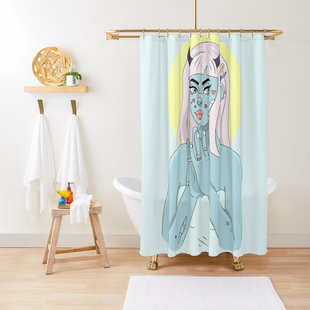 ANGEL/DEMON Shower Curtain