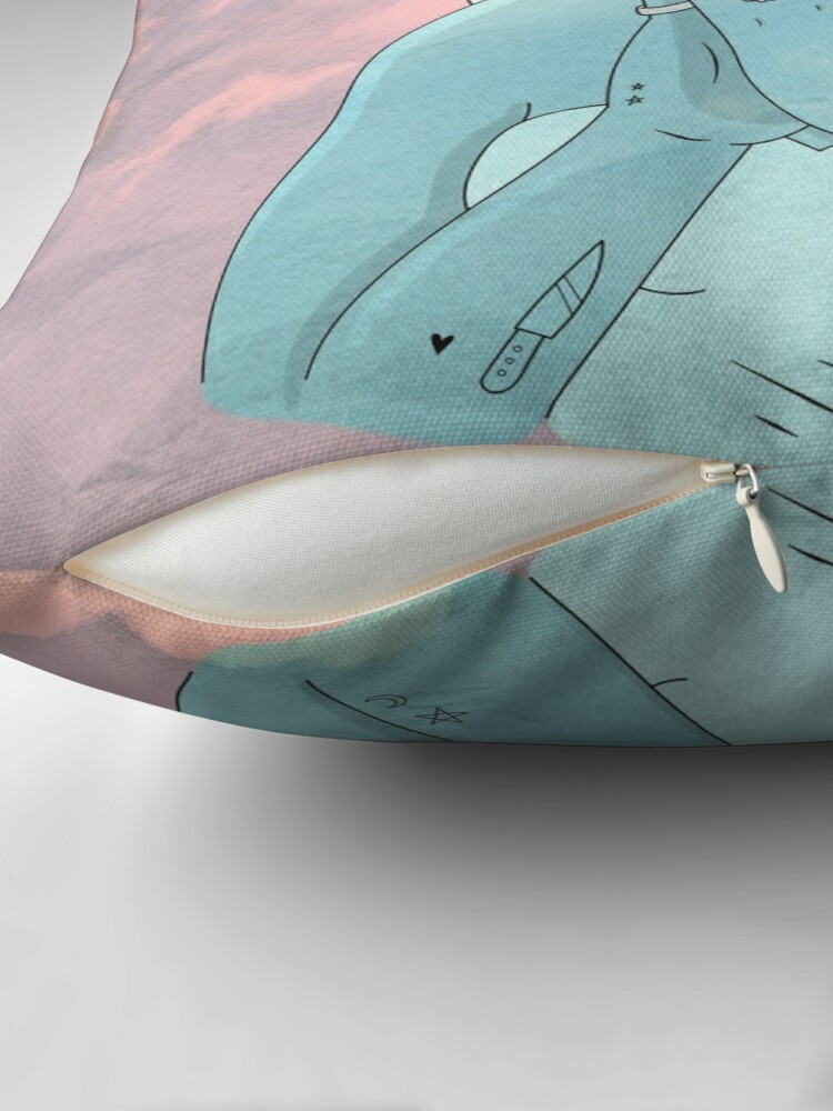 Alternate view of ANGEL/DEMON - SKY Throw Pillow