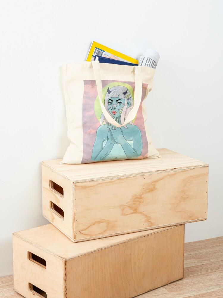 Alternate view of ANGEL/DEMON - SKY Tote Bag
