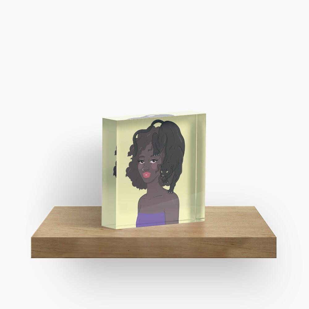 PANTHER GIRL Acrylic Block