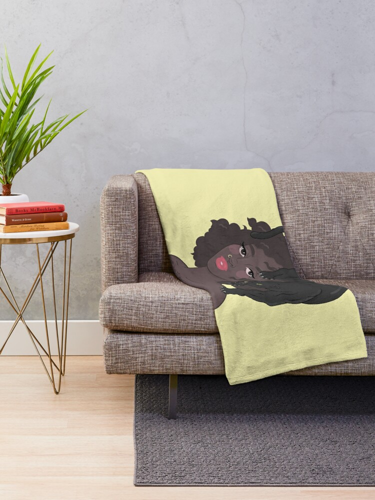 Alternate view of PANTHER GIRL Throw Blanket