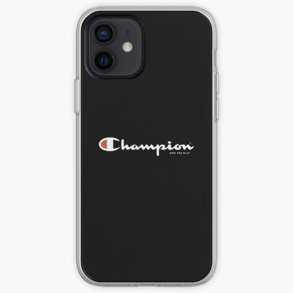 Champion Sports Black Tee iPhone Soft Case