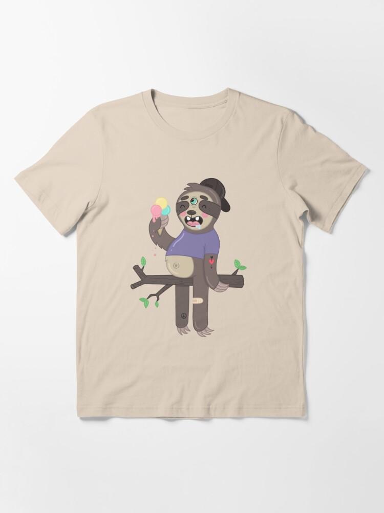 Alternate view of ICE-CREAM SLOTH Essential T-Shirt