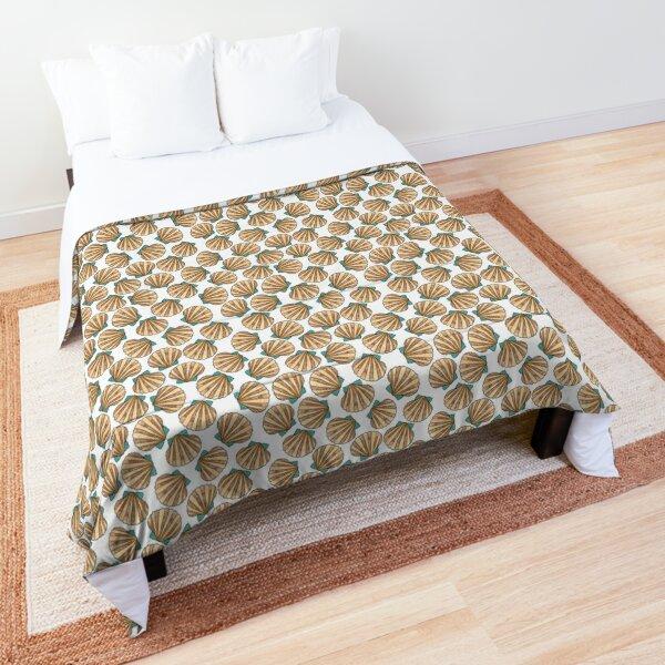 Ocean and Sea shells scallops Comforter