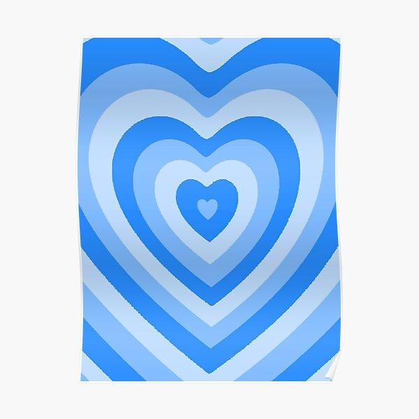 cute y2k/soft girl heart pattern Poster