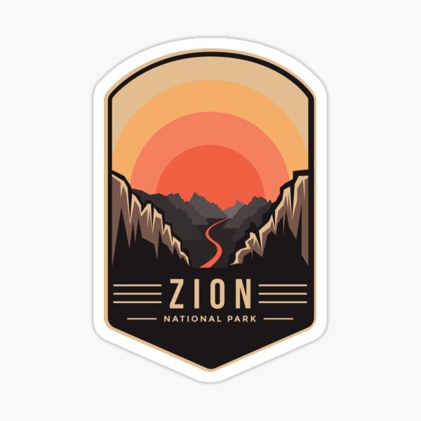Zion national park emblem patch logo  Sticker