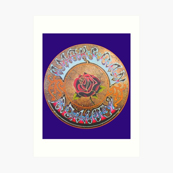 Grateful Dead American Beauty Men's Soft Fitted 301 Tri-Blend Art Print