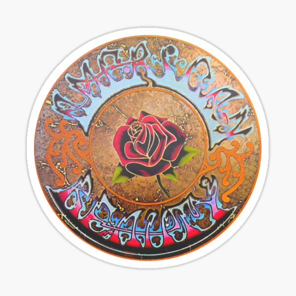 Grateful Dead American Beauty Men's Soft Fitted 301 Tri-Blend Sticker