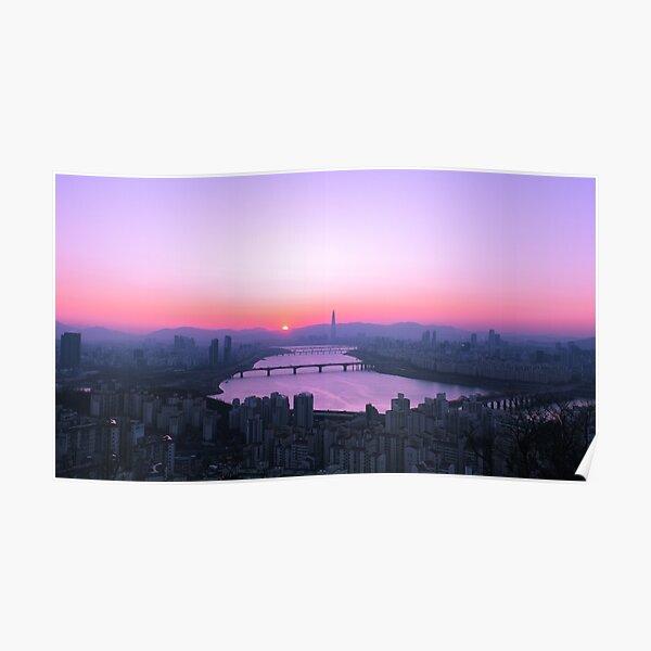 Vaporwave Sunrise, Seoul Poster