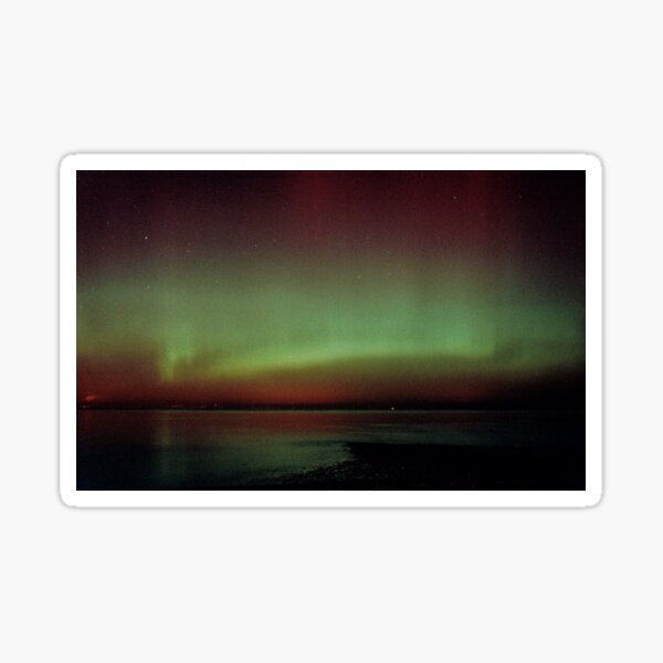 Aurora over Fife, from Musselburgh Sticker
