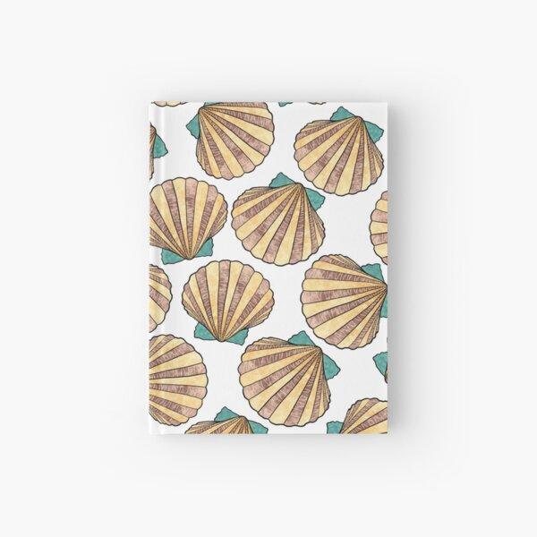 Ocean and Sea shells scallops Hardcover Journal