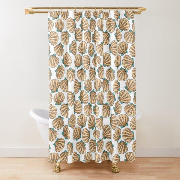 Ocean and Sea shells scallops Shower Curtain