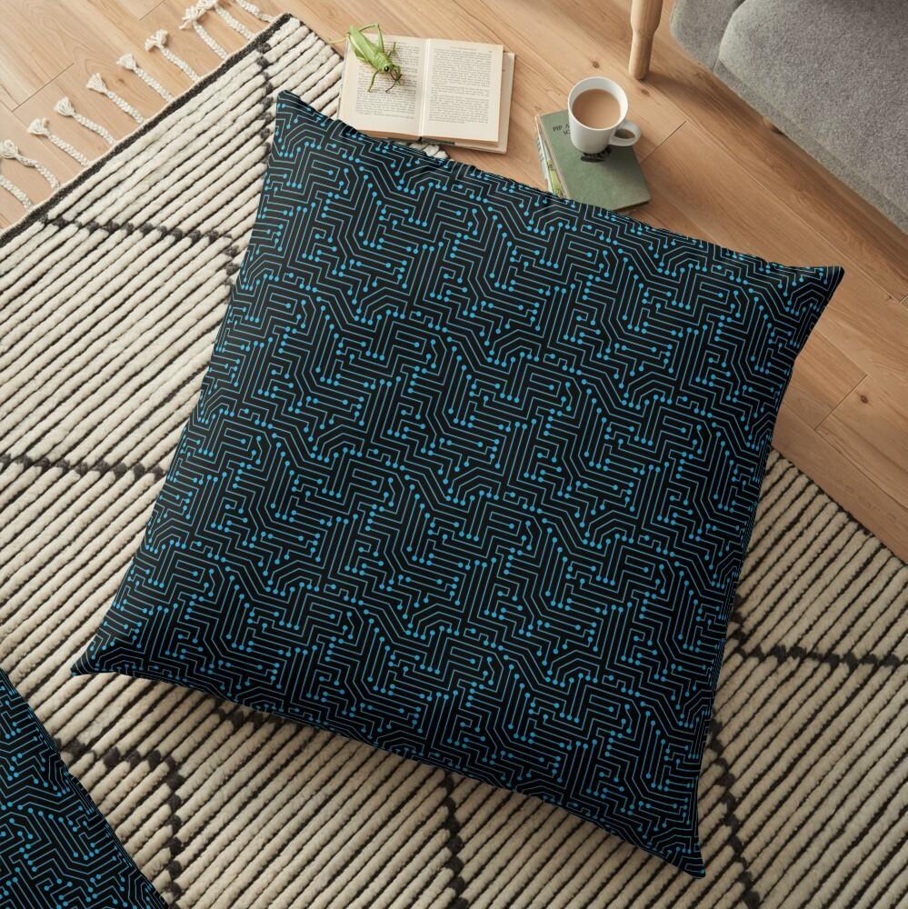 Circuit Floor Pillow