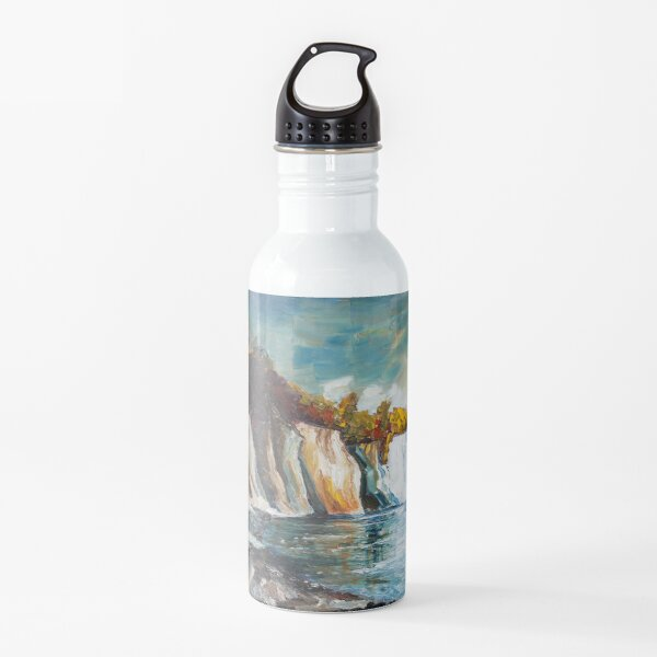 Chalk Cliffs On The Island Ruegen In Fall Water Bottle