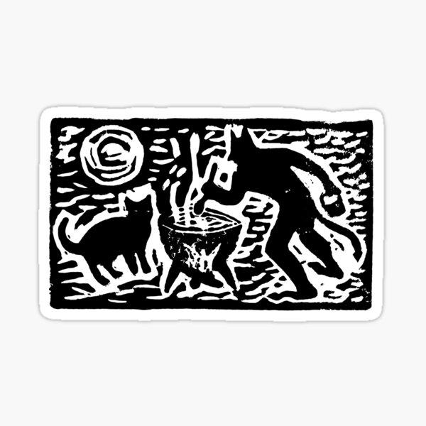 Teufel mit Katze Sticker