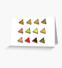 Pixel Pizza Party Greeting Card