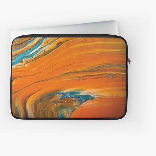 Colorful acrylic paint Laptop Sleeve