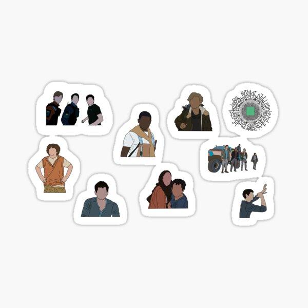 Ensemble d'autocollants Maze Runner Sticker