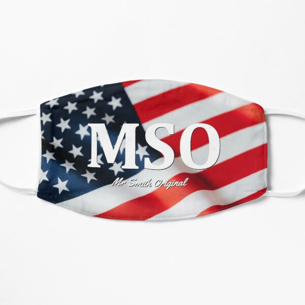 MSO Mr. Smith Original American Flag Logo Design by smithproducts Mask