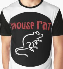 Mouse Rat Logo Graphic T-Shirt
