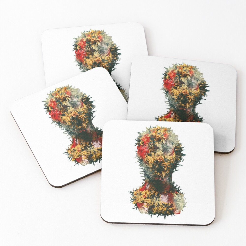 RED MESH Coasters (Set of 4)