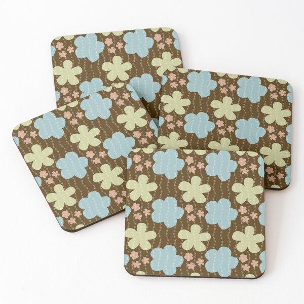 Flower Power Pattern Coasters (Set of 4)