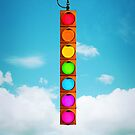 Rainbow Traffic Light by Kitty Bitty