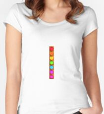Rainbow Traffic Light Women's Fitted Scoop T-Shirt