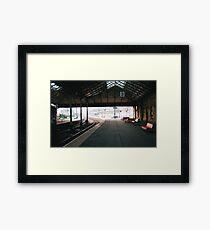 Scarborough Railway Platform 1980s Framed Print