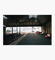 Scarborough Railway Platform 1980s Photographic Print