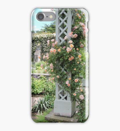 Peach & Green Trellis iPhone Case/Skin