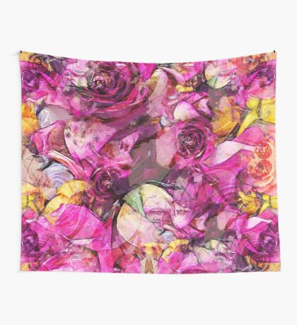 Purple roses Wall Tapestry