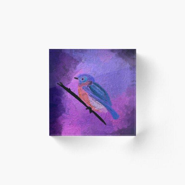 Blue Bird Acrylic Block