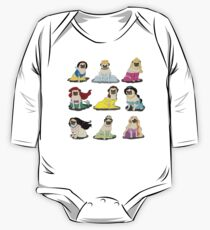 Pug Princesses Version 2 One Piece - Long Sleeve