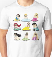 Camiseta unisex Pug Princesses Version 2