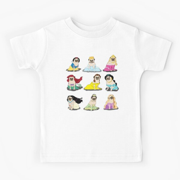 Pug Princesses Version 2 Kids T-Shirt