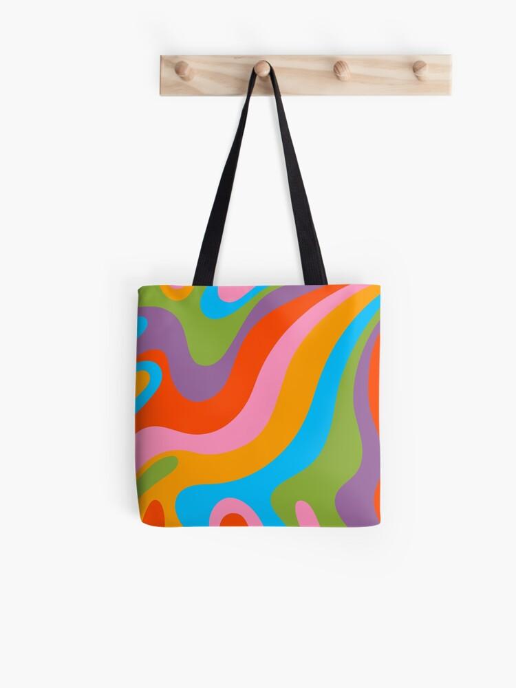 1970/'s Raindow Tote Beach Weekender Bag Purse