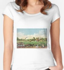 A cotton plantation on the Mississippi - 1884 Women's Fitted Scoop T-Shirt
